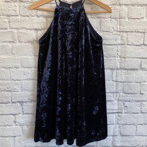 DESIGN LAB Lord & Taylor Crushed Velvet Dress